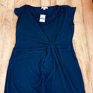 NWT Michael Kors Wms XL Navy Knot Front Dress